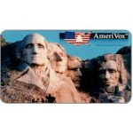 The Phonecard Shop: U.S.A., Amerivox - Mount Rushmore, Business card size, $10/$100