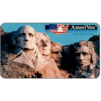 Amerivox - Mount Rushmore, Business card size, $10/$100