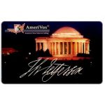 The Phonecard Shop: U.S.A., Amerivox - Jefferson Memorial at night, 4th printing 1.94, $10/$100