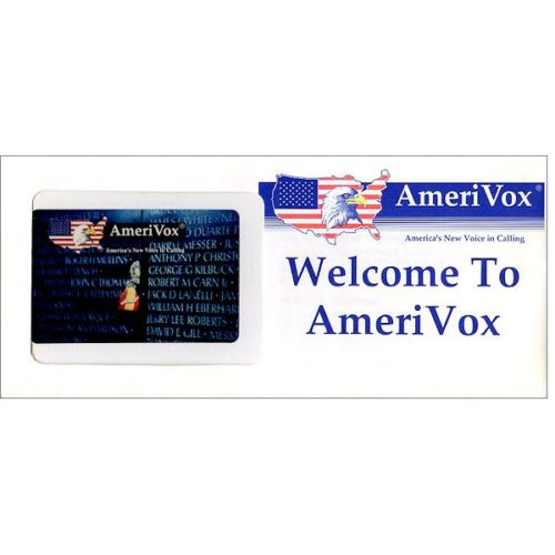 Amerivox - Vietnam War Memorial, 3.94 (in sealed envelope), $10