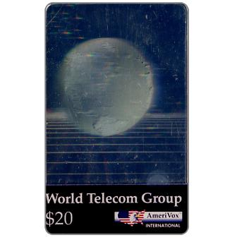 Amerivox - World Telecom Group, hologram, $20