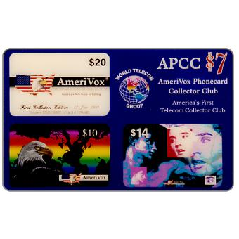 Amerivox - Phonecard Collector Club, 1st edition Jan.94, $7