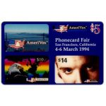 The Phonecard Shop: Amerivox - PhoneCard Fair, San Francisco, California, $5