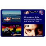 The Phonecard Shop: U.S.A., Amerivox - PhoneCard Fair, San Francisco, California, $5