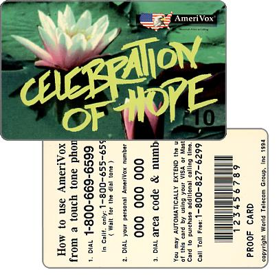 Amerivox - Celebration Of Hope, PROOF CARD, $10