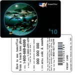 The Phonecard Shop: Amerivox - Wyland Whales series 1, Dolphin Moon, PROOF CARD, $10