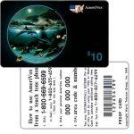The Phonecard Shop: U.S.A., Amerivox - Wyland Whales series 1, Dolphin Moon, PROOF CARD, $10