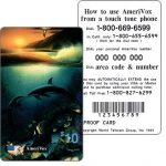 The Phonecard Shop: Amerivox - Wyland Whales series 1, Kissing Dolphins, PROOF CARD, $10