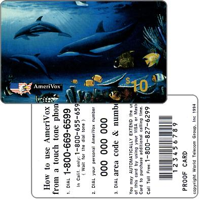 Amerivox - Wyland Whales series 1, The Living Reef, PROOF CARD, $10