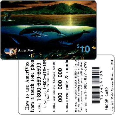 Amerivox - Wyland Whales series 1, Maui Dawn, PROOF CARD, $10