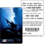 The Phonecard Shop: U.S.A., Amerivox - Wyland Whales series 1, Orca Trio, PROOF CARD, $10