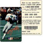 The Phonecard Shop: U.S.A., Amerivox - Ron Jaworski, PROOF CARD, $10