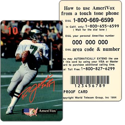 Amerivox - Ron Jaworski, PROOF CARD, $10