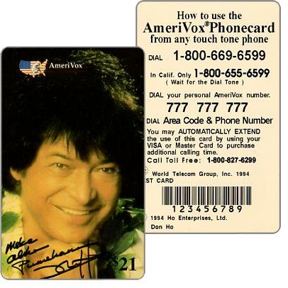 Amerivox - Don Ho signed, TEST CARD, $21