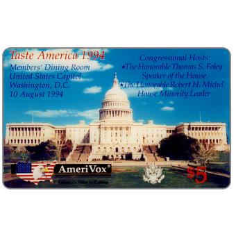 Amerivox - Taste America 1994, U.S. Capitol Building Wine & Food Celebration, $5