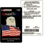The Phonecard Shop: Amerivox - American Free Enterprise, TEST CARD, $20