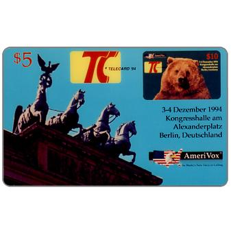 Amerivox - Telecard 94, Berlin, Germany, $5