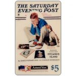 The Phonecard Shop: U.S.A., Amerivox - The Saturday Evening Post by Norman Rockwell, Starstruck, $5