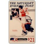 The Phonecard Shop: U.S.A., Amerivox - The Saturday Evening Post by Norman Rockwell, Be a Man!, $21
