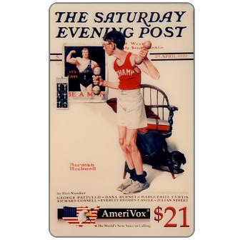 Amerivox - The Saturday Evening Post by Norman Rockwell, Be a Man!, $21