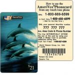 The Phonecard Shop: Amerivox - Wyland Marine Animals, Dolphin Trio, TEST CARD, $21