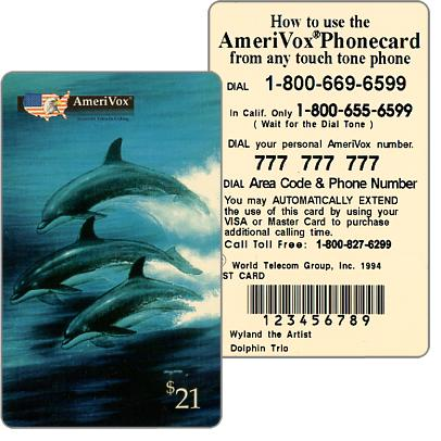Amerivox - Wyland Marine Animals, Dolphin Trio, TEST CARD, $21
