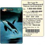 The Phonecard Shop: U.S.A., Amerivox - Wyland Marine Animals, Orca Whale Breaching, TEST CARD, $21