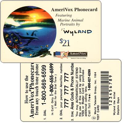 Amerivox - Wyland Marine Animals, Dolphin Days, TEST CARD, $21