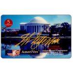 The Phonecard Shop: U.S.A., Amerivox - CardTech/SecurTech '95, Thomas Jefferson Memorial, 5 units