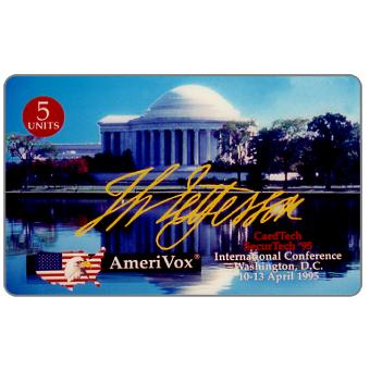 Amerivox - CardTech/SecurTech '95, Thomas Jefferson Memorial, 5 units