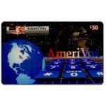 The Phonecard Shop: U.S.A., Amerivox - World, eagle & keypad, $30