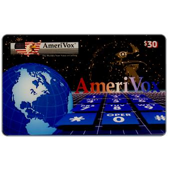 Amerivox - World, eagle & keypad, $30