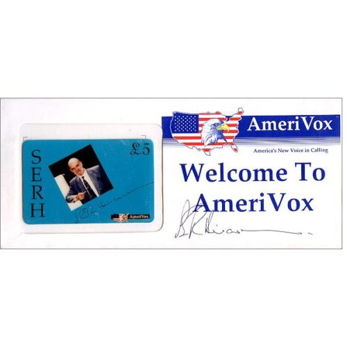 Phonecard for sale: Amerivox - SERH Steve Hiscocks, signed, (in sealed envelope), £5