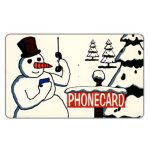The Phonecard Shop: U.S.A., Citybank - Winter, snow-man