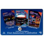 The Phonecard Shop: GTI - Premier Telecard Magazine first anniversary, $5