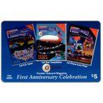 The Phonecard Shop: U.S.A., GTI - Premier Telecard Magazine first anniversary, $5