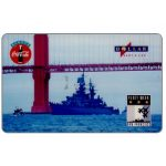 The Phonecard Shop: HT Technologies - Fleet Week Series 1, battleship under the bridge, 10 units