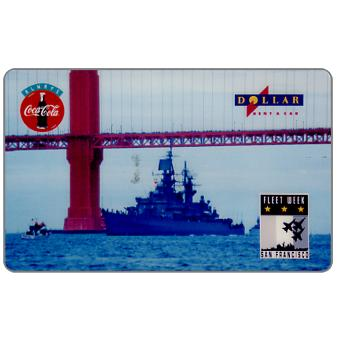 Phonecard for sale: HT Technologies - Fleet Week Series 1, battleship under the bridge, 10 units