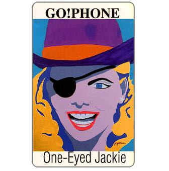 Phonecard for sale: Laser Radio - One-Eyed Jackie, signed