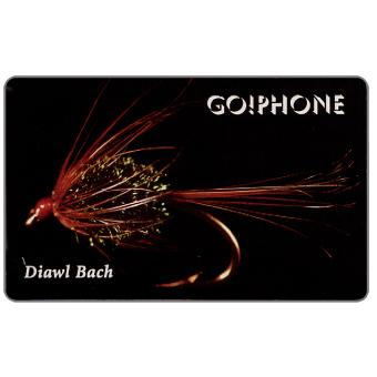 Phonecard for sale: Laser Radio - Fishing Flies 1/5, Diawl Bach, 1 unit