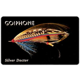 Phonecard for sale: Laser Radio - Fishing Flies 5/5, Silver Doctor, 1 unit
