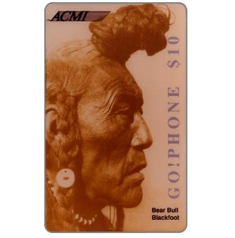 Phonecard for sale: Laser Radio - Native American, Bear Bull Blackfoot, $10
