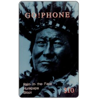 Phonecard for sale: Laser Radio - Native American, Rain-In-The-Face, $10