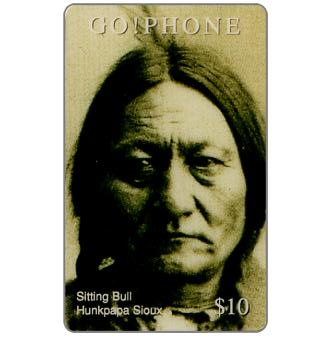 Phonecard for sale: Laser Radio - Native American, Sitting Bull, $10