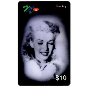 Phonecard for sale: Laser Radio - Marilyn Monroe, A week in the life, Sunday, $10