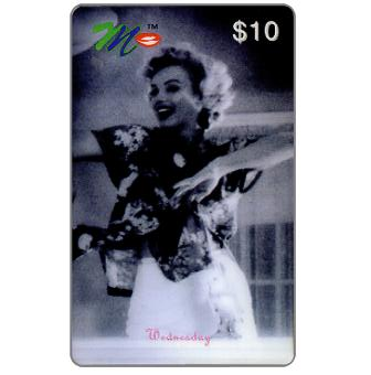 Phonecard for sale: Laser Radio - Marilyn Monroe, A week in the life, Wednesday, $10