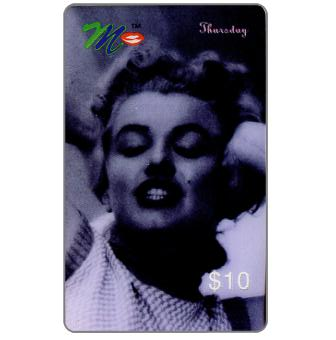Phonecard for sale: Laser Radio - Marilyn Monroe, A week in the life, Thursday, $10