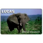 The Phonecard Shop: U.S.A., Lucas - African Elephant, color card sample