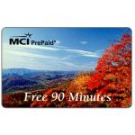 The Phonecard Shop: U.S.A., MCI - Autumn landscape, complimentary 90 minutes