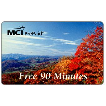 Phonecard for sale: MCI - Autumn landscape, complimentary 90 minutes
